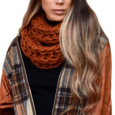 Chunky Thick Knit Oversized Plush Soft Warm Winter Women/'s Infinity Loop Scarf