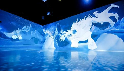 An exhibition, based on the Frozen animation series, is expected to pull in shoppers at Park Central in Tseung Kwan O. Photo: Handout