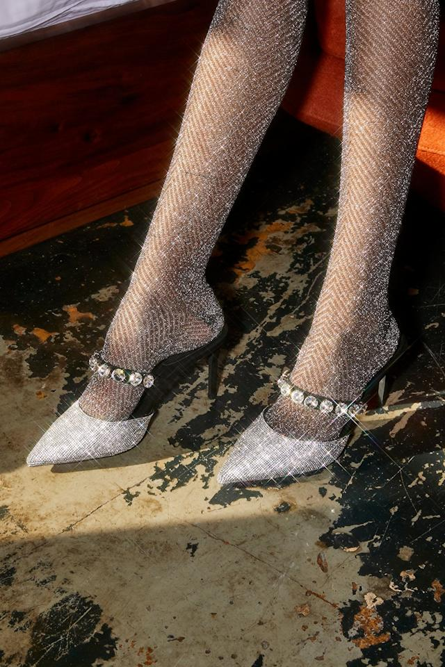"<p>All eyes will be on these <a href=""https://www.popsugar.com/buy/Jeffrey-Campbell-Private-Event-Mules-522486?p_name=Jeffrey%20Campbell%20Private%20Event%20Mules&retailer=freepeople.com&pid=522486&price=148&evar1=fab%3Aus&evar9=44216254&evar98=https%3A%2F%2Fwww.popsugar.com%2Ffashion%2Fphoto-gallery%2F44216254%2Fimage%2F46936309%2FJeffrey-Campbell-Private-Event-Mules&list1=holiday%2Cheels%2Choliday%20fashion&prop13=mobile&pdata=1"" rel=""nofollow"" data-shoppable-link=""1"" target=""_blank"" class=""ga-track"" data-ga-category=""Related"" data-ga-label=""https://www.freepeople.com/shop/private-event-mule/?category=heels-wedges&amp;color=001&amp;quantity=1&amp;type=REGULAR"" data-ga-action=""In-Line Links"">Jeffrey Campbell Private Event Mules</a> ($148).</p>"
