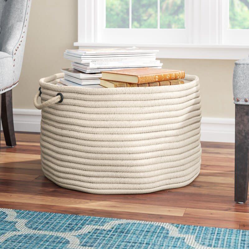 Utility Fabric Basket. Image via Wayfair.