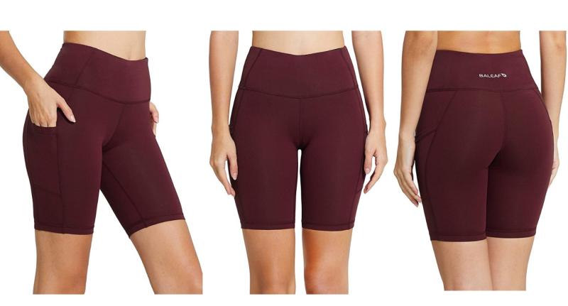 Baleaf Women's Yoga Workout Shorts. Images via Amazon.