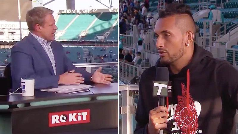 Nick Kyrgios labels umpire a 'f******disgrace', violently hurls racquet to ground