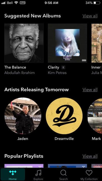 what is tidal ios suggested