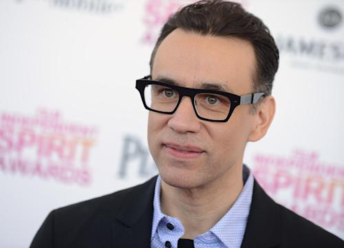 "FILE - In this Feb. 23, 2013 file photo, actor Fred Armisen arrives at the Independent Spirit Awards in Santa Monica, Calif. Armisen has confirmed that he has left ""Saturday Night Live"" after 11 years. The actor dispelled any doubt about his exit in an interview posted Monday, July 1, 2013, by comedy website Splitsider. (Photo by Jordan Strauss/Invision/AP, File)"