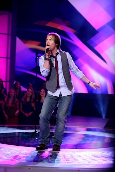 David Cook performs as one of the top 24 contestants on the 7th season of American Idol.