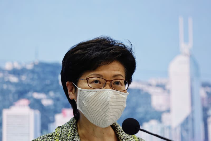 HK leader says cannot demand rights protection for 12 arrested by China
