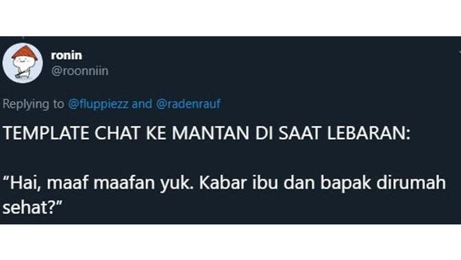 5 Chat Mantan Tanya Kabar Ibu Ini Bikin Baper (sumber: Twitter.com/roonniin)