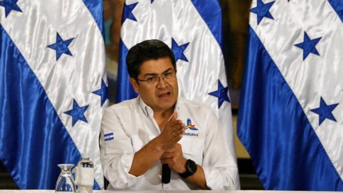 Presiden Honduras Juan Orlando Hernandez (AFP)