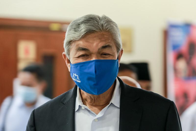 The High Court had to postpone Datuk Seri Ahmad Zahid Hamidi's trial twice in September. — Picture by Ahmad Zamzahuri