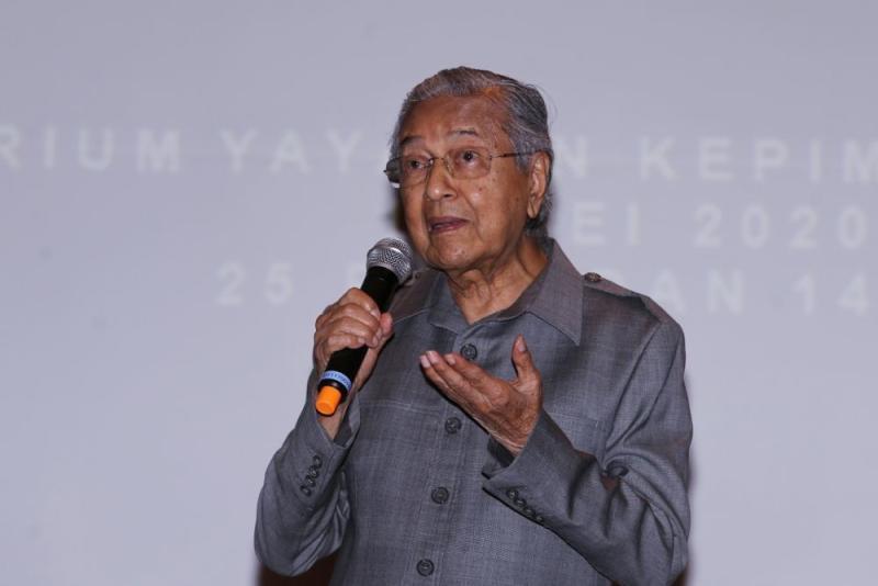 Tun Dr Mahathir Mohamad speaks during a press conference at Yayasan Kepimpinan Perdana in Putrajaya May 18, 2020. — Picture by Choo Choy May