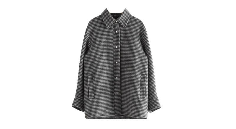 Oversized Recycled Wool Shirt Jacket