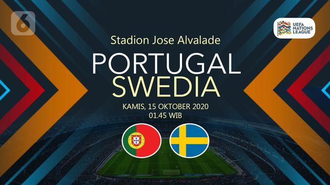 Portugal vs Swedia (Liputan6.com/Abdillah)