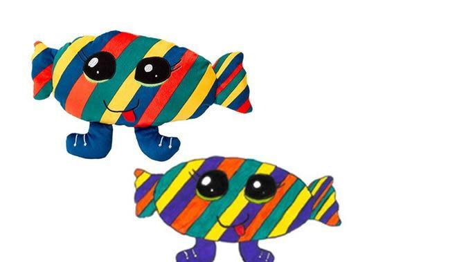 BONBON-POISSON GOURMAND dirancang oleh Clemence, 8 tahun, pemenang kompetisi menggambar boneka oleh IKEA. (dok. IKEA)