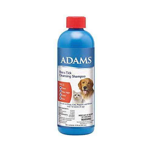 """<p><strong>Adams</strong></p><p>amazon.com</p><p><strong>$8.57</strong></p><p><a href=""""https://www.amazon.com/dp/B0051YI0W0?tag=syn-yahoo-20&ascsubtag=%5Bartid%7C10055.g.33995402%5Bsrc%7Cyahoo-us"""" target=""""_blank"""">Shop Now</a></p><p>If your dog has fleas, then you have fleas — and you don't want fleas. Adams Flea and Tick Cleansing Shampoo eradicates fleas on contact (and flea eggs, to prevent your problem from coming back). For up to 30 days after your dog's wash, they'll be protected from flea infestation. Plus, it also protects again ticks and lice — a must-have if your dog spends a lot of time in the great outdoors.</p>"""