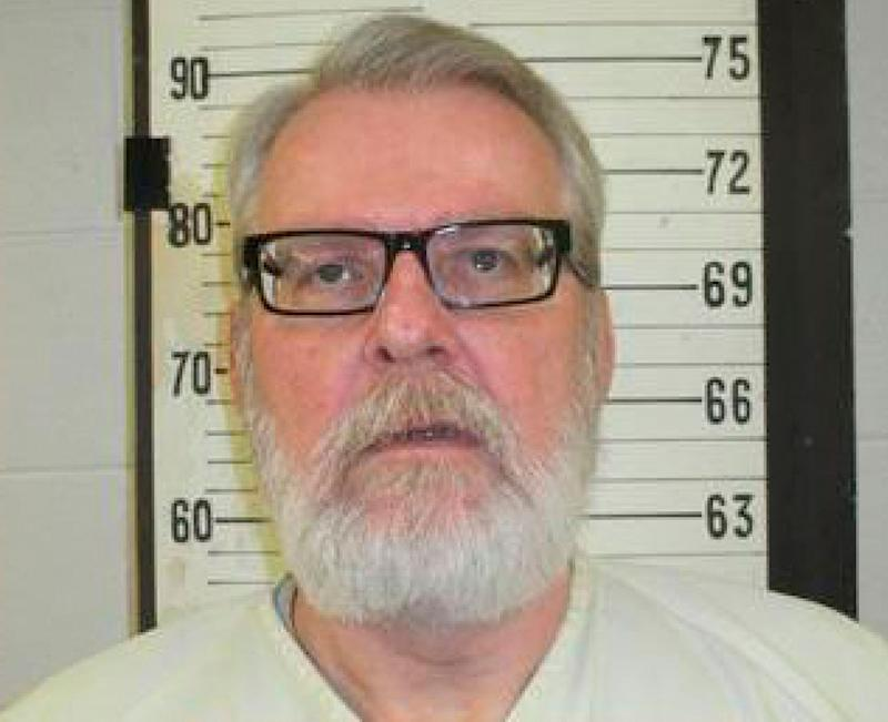 A booking photo released by the Tennessee Department of Corrections shows Stephen West. West was executed for murdering a mum and her daughter in 1986.