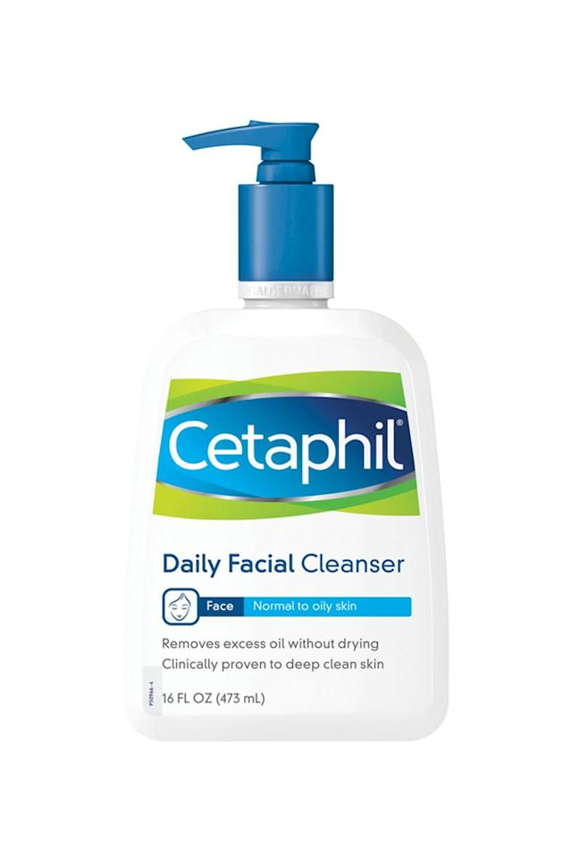 """<p><strong>Cetaphil</strong></p><p>Walmart.com</p><p><strong>$9.52</strong></p><p><a href=""""https://go.redirectingat.com?id=74968X1596630&url=https%3A%2F%2Fwww.walmart.com%2Fip%2FCetaphil-Daily-Facial-Cleanser-Face-Wash-For-Normal-to-Oily-Skin-16-Oz%2F10317221&sref=https%3A%2F%2Fwww.goodhousekeeping.com%2Fbeauty%2Fanti-aging%2Fg25577175%2Fbest-face-wash-dry-skin%2F"""" target=""""_blank"""">Shop Now</a></p><p>When the GH Beauty Lab conducted a test on 17 different cleansers, this was the consumer favorite. Though it's labeled for normal to oily skin, it ranked the high among testers with dry and sensitive skin. """"This <strong>didn't overdry or make my skin feel stripped</strong>,"""" a Lab tester reported. """"My face even appears smoother,"""" another said.</p>"""