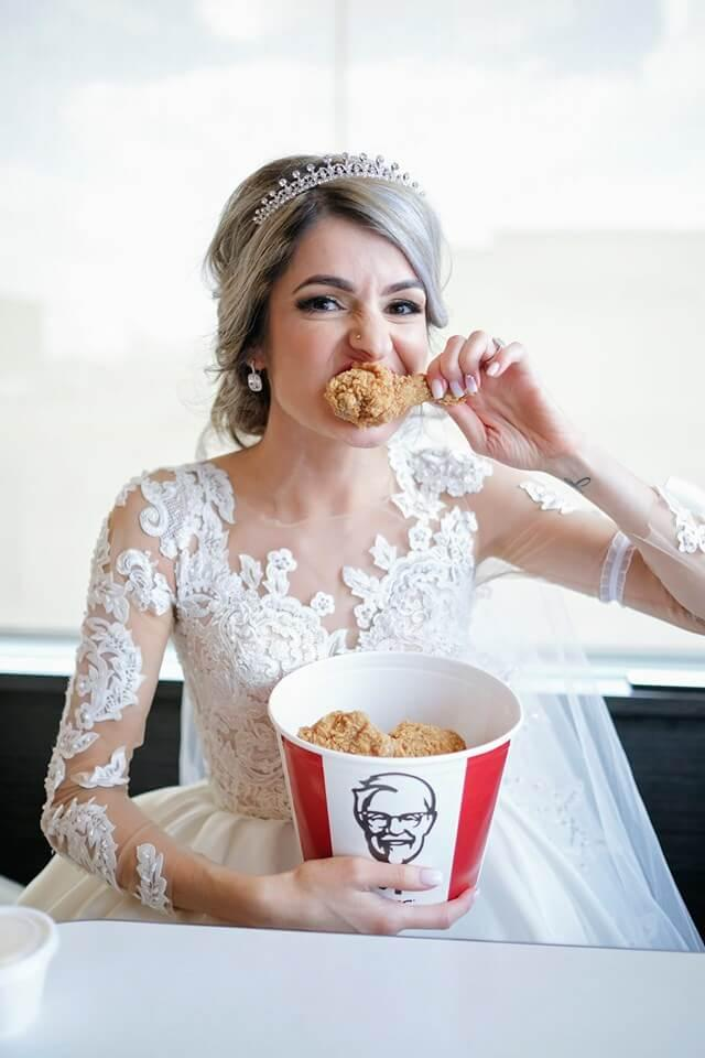This could be you at your KFC wedding. Photo: Supplied
