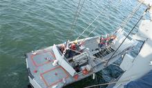 中業軍艦小艇吊放操演 確保作業安全