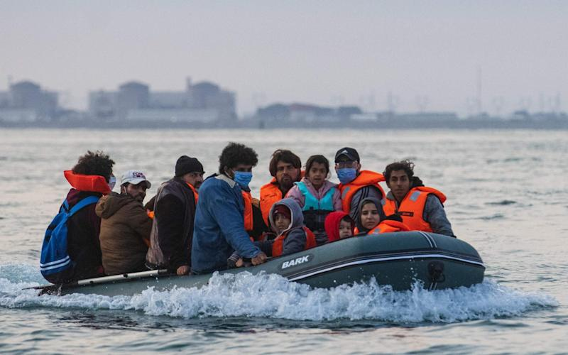 Migrants crossing the English Channel can be spotted by the shoebox-sized devices - AFP