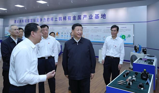 Chinese President Xi Jinping's visit last year to a rare earth refinery in Jiangxi province spurred US officials to redouble efforts aimed at creating a domestic industry. Photo: Xinhua