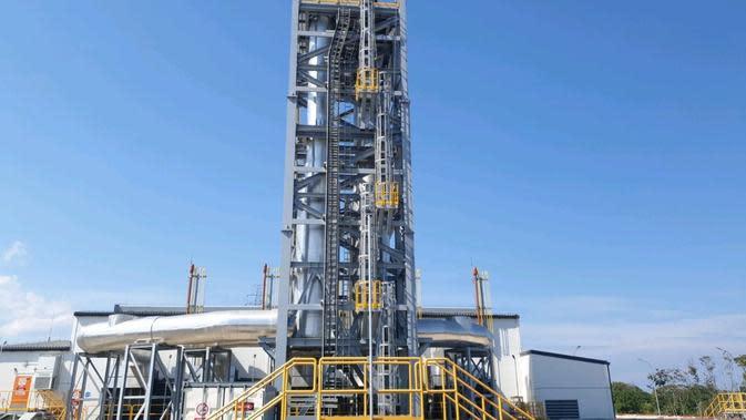 Pembangkit Listrik Tenaga Mesin Gas (PLTMG) Kupang Peaker berkapasitas 40 Megawatt (MW). (Dok PLN)