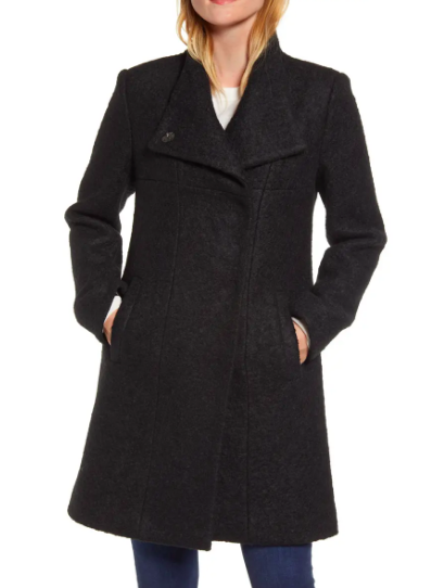 Kenneth Cole New York Wool Blend Bouclé Coat (Photo via Nordstrom)