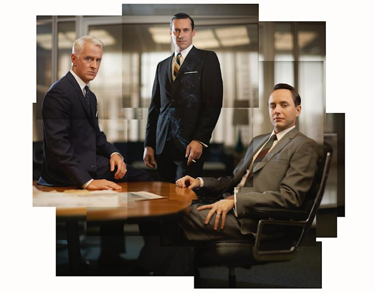 John Slattery, Jon Hamm, and Vincent Kartheiser