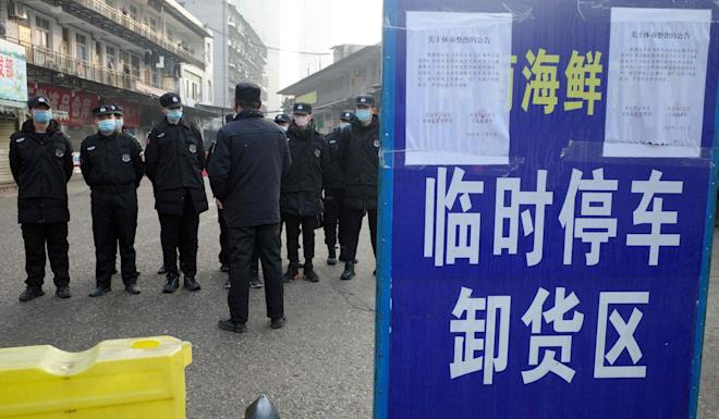 The market at the centre of the outbreak has now been closed. Photo: AFP