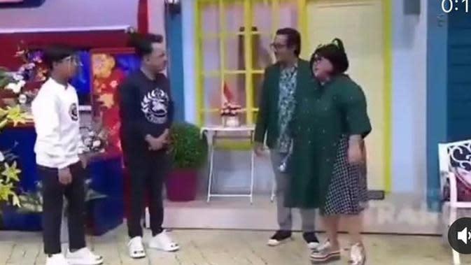 Andre Taulany saat tampil bersama Betrand Peto dan Ruben Onsu (YouTube)