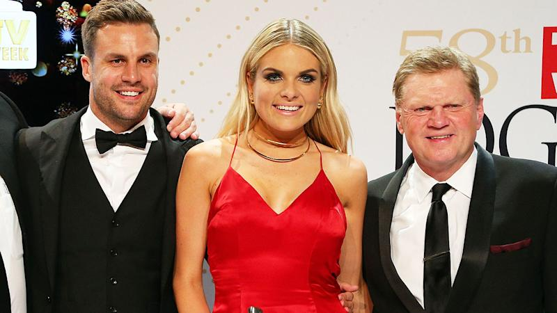 Beau Ryan, Erin Molan and Paul Vautin, pictured here at the 2016 Logies.