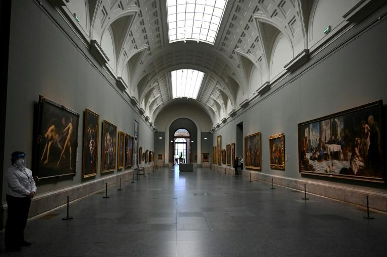 """In the Prado's huge central gallery, more than 200 paintings from the museum's collection have been put on display in a new exhibition called """"Reunion"""""""