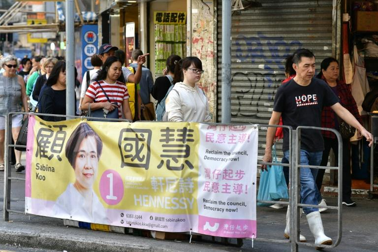 The district council polls normally stir little excitement but with protests roughing up the city, pro-democracy candidates are hoping to make a statement