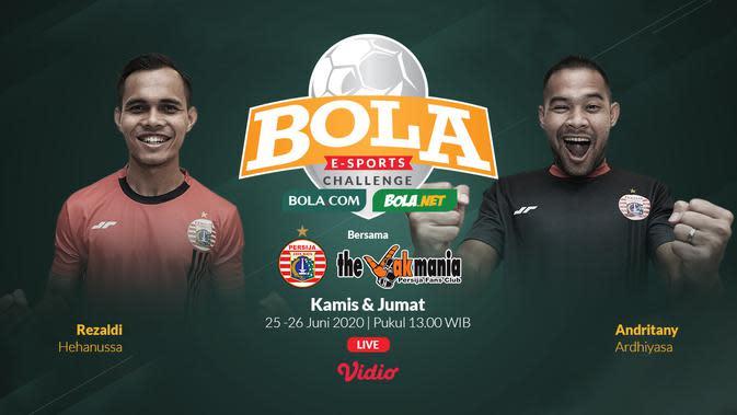 Bola Esports Challenge akan menghadirkan Rezaldi Hehanussa dan Andritany Ardhiyasa.