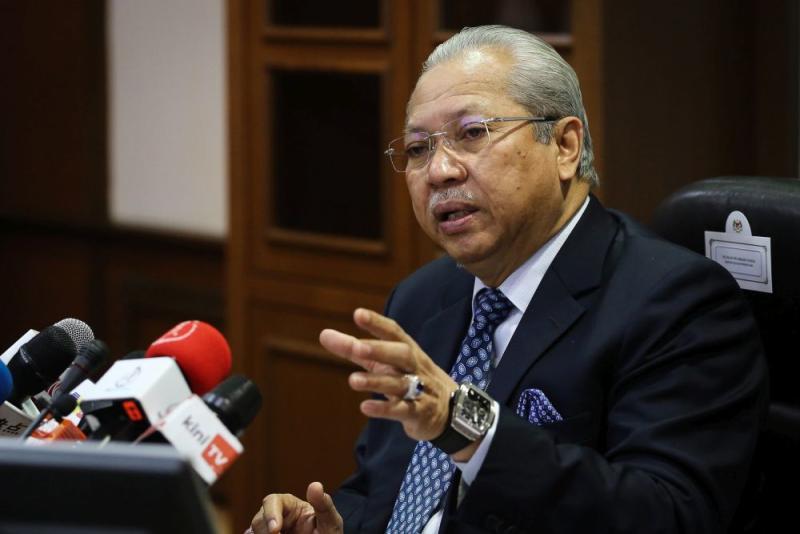 Federal Territories Minister Tan Sri Annuar Musa speaks during a press conference at Menara Seri Wilayah in Putrajaya October 1, 2020. — Picture by Yusof Mat Isa