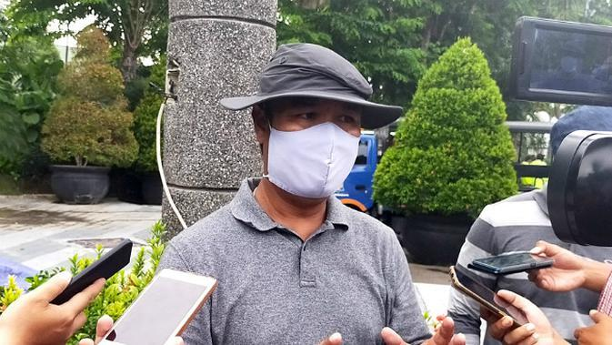 Wakil Koordinator Hubungan Masyarakat Gugus Tugas Percepatan Penanganan Covid-19 Kota Surabaya, M Fikser (Foto: Liputan6.com/Dian Kurniawan)