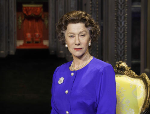 "FILE - This undated file image provided by Boneau/Bryan-Brown shows Helen Mirren as Queen Elizabeth II in a promotional photo for Peter Morgan's play ""The Audience."" National Theatre Live, which broadcasts stage shows from England to movie screens worldwide, said Monday, June 17, 2013, that its June 13 live broadcast of Mirren as Queen Elizabeth II in the play ""The Audience"" has captured its largest audience to date. (AP Photo/Boneau/Bryan-Brown, Johan Persson, File)"