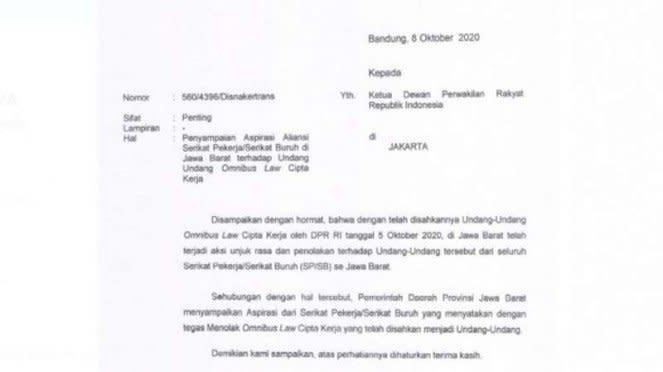 Surat Terbuka Ridwan Kamil kepada Presiden Joko Widodo
