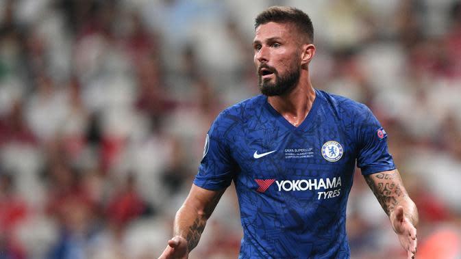 Olivier Giroud - Pemain berusia 34 tahun ini tercatat telah mengemas 78 gol saat bersama Arsenal dan Chelsea. Giroud juga masih aktif bermain dengan The Blues sampai sekarang. (AFP/Bulent Kilic)