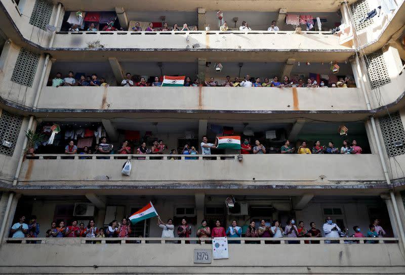 Indians clap, ring bells to cheer emergency workers during coronavirus lockdown