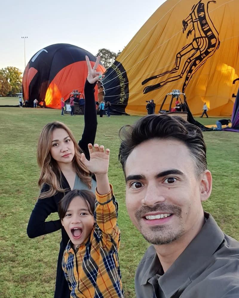 Ashraf left behind wife Bunga Cinta Lestari and a 10-year-old son, Noah Aidan Sinclair. — Picture from Instagram/Ashraf Sinclair