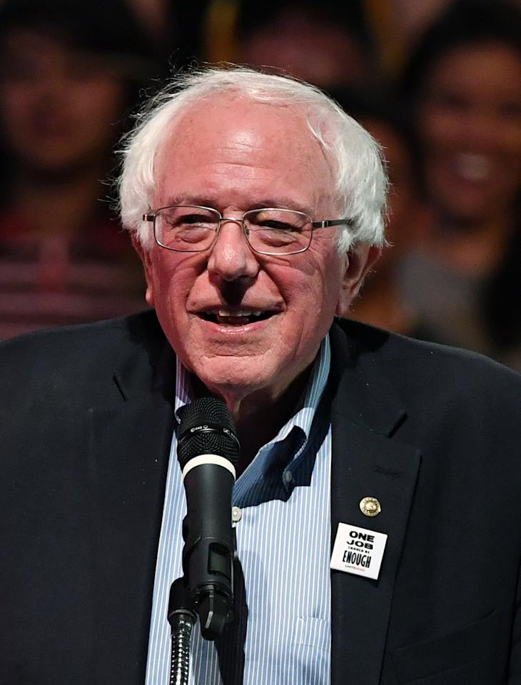 "In the wake of a Facebook movement to storm Nevada's Area 51, presidential hopeful Sanders <a href=""https://thehill.com/homenews/campaign/456553-bernie-sanders-promises-to-let-americans-in-on-aliens-if-elected"">was asked on the <em>Joe Rogan Experience</em></a> if he'd release any information the U.S. government has about alien life forms if elected president.   ""Well I tell you, my wife would demand that I let you know,"" he said. Assuring the host that as a senator he currently doesn't have any access to such information, if it does exist, he said that if elected president, ""I'll be on the show, we'll announce it on the show. How's that?"""