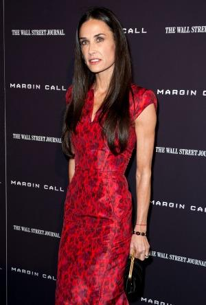 Demi Moore Wears Wedding Ring at 'Margin Call' Premiere