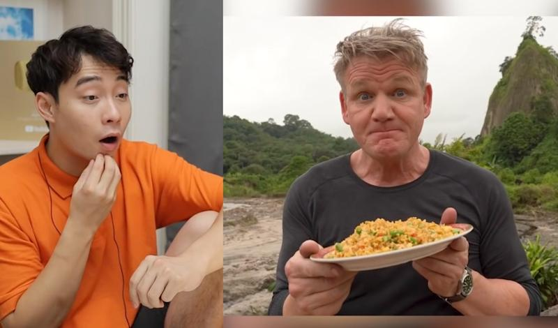 Ng said he was pleasantly surprised with Ramsay's fried rice techniques. — Screengrab from YouTube/mrnigelng