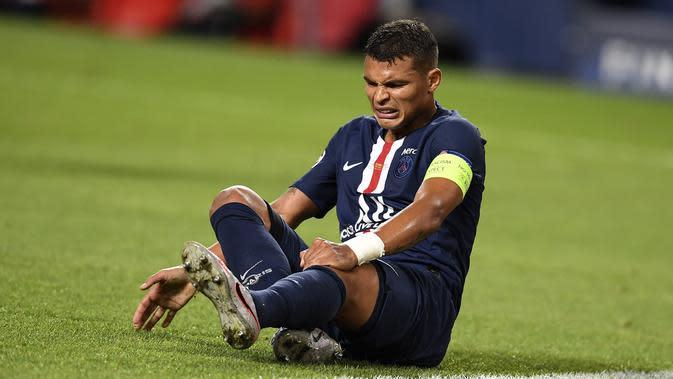 Bek PSG, Thiago Silva. (David Ramos/Pool via AP)