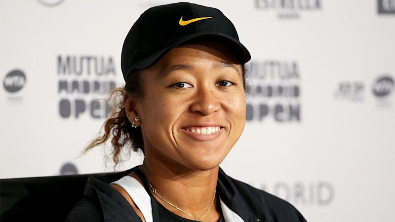 Naomi Osaka with a Nike hat. (Getty Images)