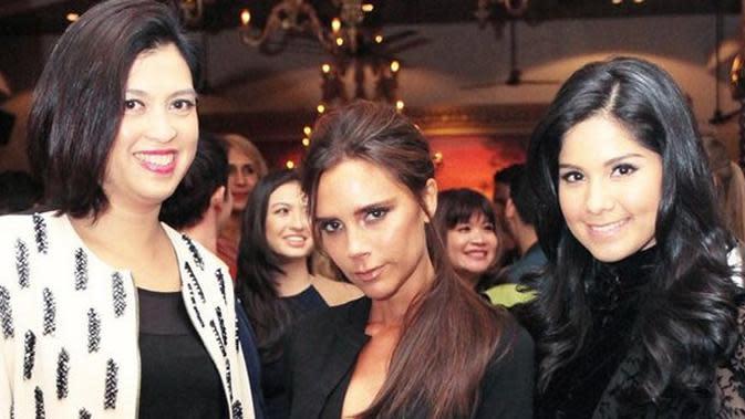Annisa Pohan bersama Victoria Beckham