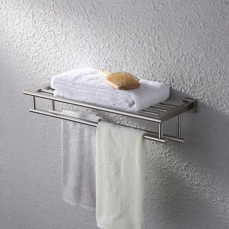 Bathroom Wall Mounted Towel Rack. Image via Wayfair.