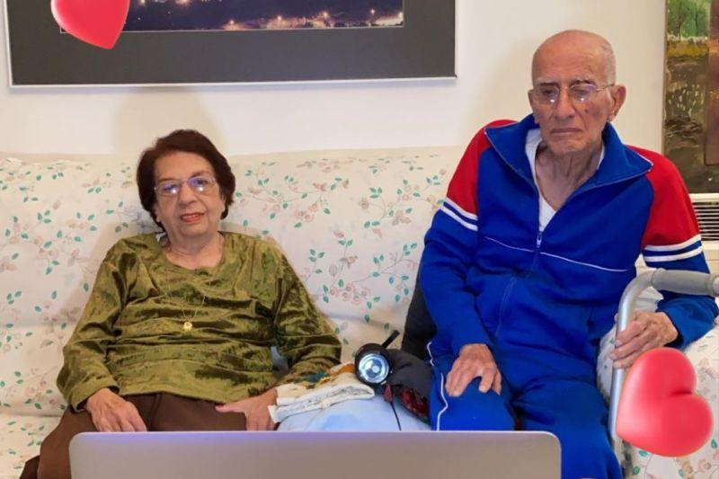The couple from Israel melted hearts on Monday after the photo was uploaded by their granddaughter. — Picture via Facebook/Omer Shapira.