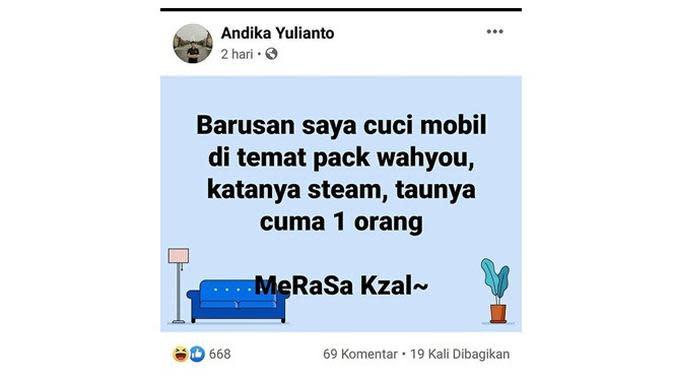 Status Facebook (Sumber: Instagram/awreceh.id)