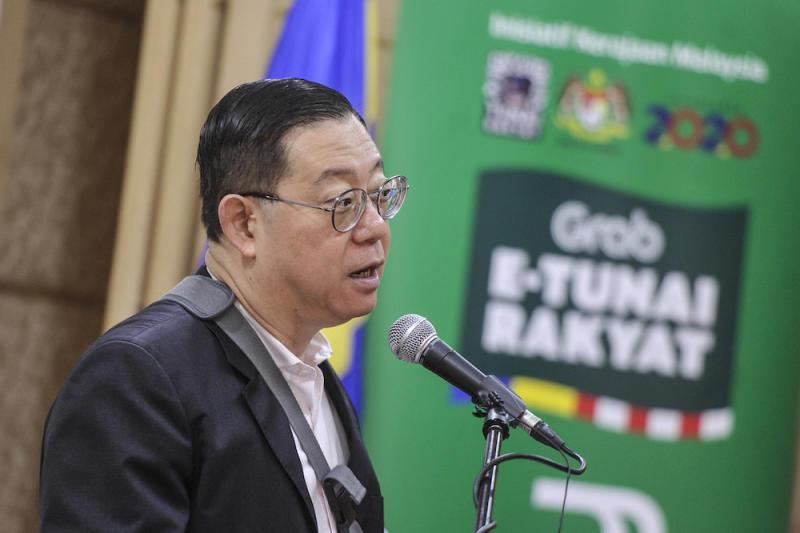Finance Minister Lim Guan Eng speaks to reporters during the launch of e-Tunai Rakyat in Putrajaya January 14, 2020. — Picture by Shafwan Zaidon